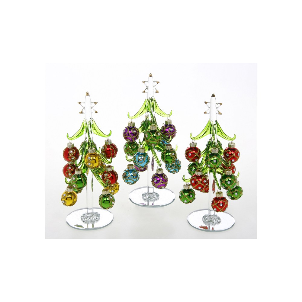 Decorated Tree Jewel Baubles Small