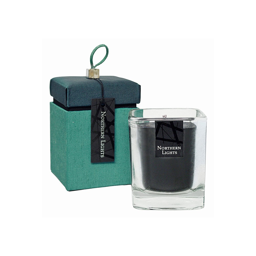 N Light Black Candle Teal